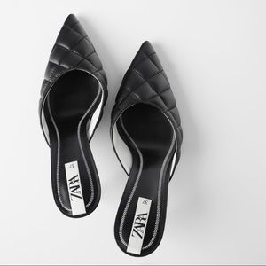 Zara Quilted Mules